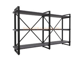 Стеллаж Командор Лофт 160х102-3 черный/графит