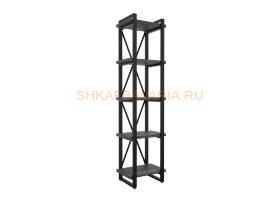 Стеллаж Командор Лофт 40х182-2 черный/графит