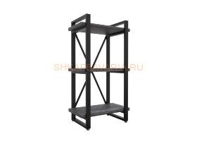 Стеллаж Командор Лофт 40х102-2 черный/графит