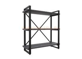 Стеллаж Командор Лофт 80х102-2 черный/графит